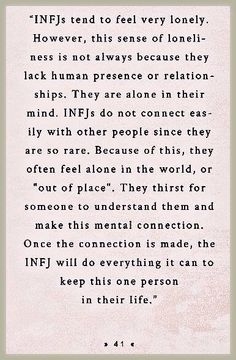 Once the connection is made, the INFJ will do everything they can to keep this one person in their life. Once the connection is made, the INFJ will do everything they can to keep this one person in their life. Infj Mbti, Intj And Infj, Infj Type, Isfj, Infj Traits, Myers Briggs Infj, Myers Briggs Personality Types, Infj Personality, Myer Briggs