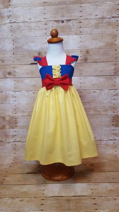 1129440a485 Princess Snow White Inspired Girls Toddler Disney Everyday Princess Dress
