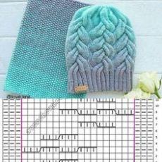 Crochet Kids Hats, Baby Hats Knitting, Knitted Hats, Knit Crochet, Cable Knitting Patterns, Crochet Motif Patterns, Knitting Stitches, Diy Crafts Knitting, Diy Crafts Crochet