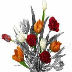 Flower Bouquet Digital Art by Rafael Salazar