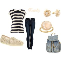Outfit with TOMS....love those shoes