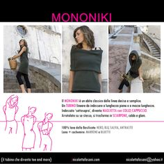 How to wear a MONONIKI. Capsule Collection '100% wool from Basilicata'. Dress with classic and simple lines. A linear shift dress to wear full-lenght or simply as a t-shirt or a scarf- Handmade, 100% made in Italy