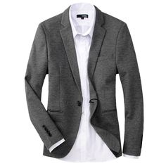 $125.31  #MensSuits Elegant Single Button Slim Leisure Mens Casual Suits Blazer Spring Special Offer Discount Online Shopping