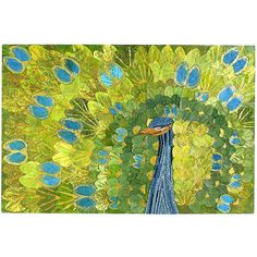Pier 1 Peacock Collage Wall Decor has brilliant color with 3-D embellishment