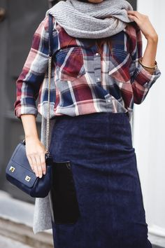 7c8879ab79e7cd Exploring combinations of textures and prints. Casual outfit with   abercrombie1892 checkered shirt and