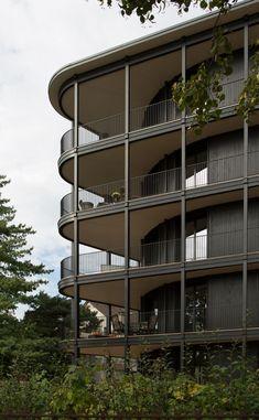 Architecture Diy Decorating diy home projects ideas Facade Design, Exterior Design, House Design, Basel, Architecture Résidentielle, Balkon Design, Construction, Diy Decorating, Balcony