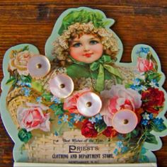Best Wishes of the Year - PRIEST's Clothing & Department Store  - Newmarket, NH, USA (button card)