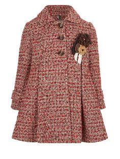 Girls Heather Tweed Coat