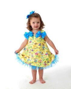 Easy Jumper Dress Pattern SEW GIRLY Tutu Dress von OlaJanePatterns