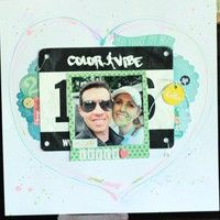 Color Run Love by triciaromo1123 from our Scrapbooking Gallery originally submitted 06/04/13 at 06:14 PM