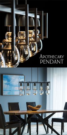 Shop Hubbardton Forge Lighting - The Apothecary Pendant is subtle & simple in all of the right ways. Apothecary, Chandelier, Ceiling Lights, Studio, Lighting, Pendant, Simple, Home Decor, Candelabra