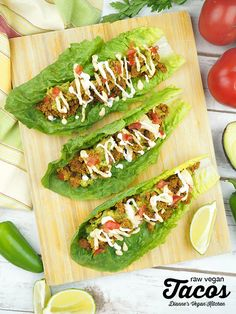 Made with sunflower seeds these raw vegan tacos are both very delicious and highly nutritious! Along with guacamole dairy-free nacho cheese and cashew sour cream theyre the ultimate Taco Tuesday meal! Easy Vegetarian Dinner, Vegetarian Mexican, Dairy Free Nacho Cheese, Raw Vegan Recipes, Healthy Recipes, Healthy Foods, Roh Vegan, Vegan Comfort Food, Vegan Kitchen