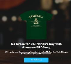 FREE #JamesonSPDSwag – Jameson Irish Whiskeyis away Jameson swag to partiers in parts of Dallas, New York, Chicago, Boston, Philadelphia and San Francisco. John Jameson created his smooth, triple distilled whiskey to be enjoyed, not abused. Please drink Jameson responsibly.Responsible Behaviour Irish Distillers Pernod Ricard, owners of Jameson Irish Whiskey, is committed to promoting responsible …