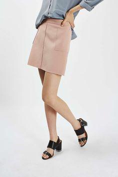 Crepe Pocket Mini Skirt - Topshop