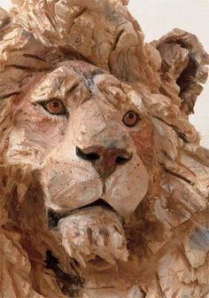 Artist Uses A Chainsaw To Carve Wood, And His Sculptures Are Mind Blowing! Tree Carving, Wood Carving Art, Art Sculpture En Bois, Wood Artwork, 3d Figures, Lion Art, Plastic Art, Art Carved, Art Abstrait