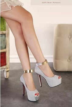 """""""Elegant Series"""" Ankle Strap High Heels platform pumps Sandals (New Arrival 201"""