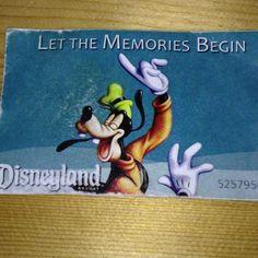 Disneyland resort anaheim ticket. Let the memories begin!