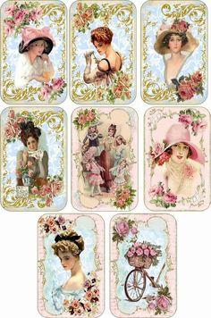 Una tanda de imágenes vintage que se lo mucho que os gustan    Enlaces:   http://manualidades.facilisimo.com/foros/decoupage/laminas-vintage...