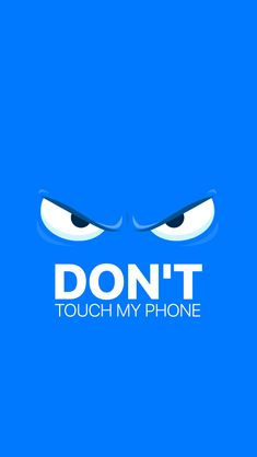 Staring eyes! Tap to see more Don't Touch My Phone iPhone wallpapers, backgrounds, fondos. @mobile9