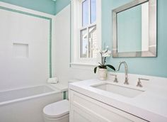 Turquoise Bathroom Paint Color. #Turquoise #Bathroom #paintcolor