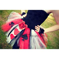 Queen of Hearts Tutu Dress--6 months up to pre-teen available (47 AUD) ❤ liked on Polyvore featuring dresses, skirts and costumes