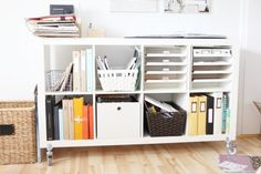 AE_ShelfDesk Ali Edwards posts about her workspace and storage. Love pretty much everything here.