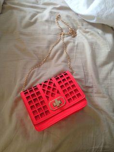 Hot pink cross body #fashion #beautiful #pretty Please follow / repin my pinterest. Also visit my blog  http://www.fashionblogdirect.blogspot.com/