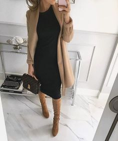Perfect autumnal outfit for the office or a couple of drinks after work camel coat outfit Business Outfit Frau, Business Casual Outfits, Professional Outfits, Office Outfits, Office Attire, Office Wear, Mode Outfits, Fashion Outfits, Jackets Fashion