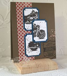 No I am not a biker babe and have no desire to be one but you do know that I love to create masculine cards right? So how could I NOT want t...