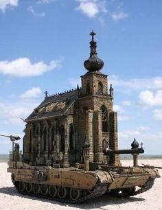 A church..on a tank..with a cannon and 50 cal!  Is it me or am I getting a mixed message here?