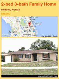 2-bed 3-bath Family Home in Deltona, Florida ►$45,000 #PropertyForSale #RealEstate #Florida http://florida-magic.com/properties/71356-family-home-for-sale-in-deltona-florida-with-2-bedroom-3-bathroom