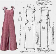Dress Sewing Patterns, Sewing Patterns Free, Clothing Patterns, Jumpsuit Pattern, Pants Pattern, Diy Clothing, Sewing Clothes, Fashion Sewing, Diy Fashion