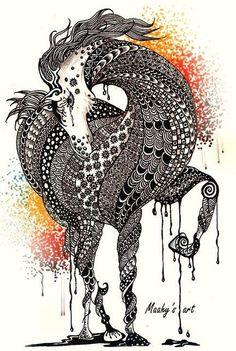 zentangle horse | horse | Zentangle animals