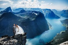 This fabulous wedding shoot on one of the most beautiful mountains in Norway ... are taken by Photographer MA from Ørsta. A fantastic shoot with a fantastic bridal couples. Could it be more beautiful ... The mountain is part of the the Sunnmøre Alps in the municipality of Ørsta at Sunnmøre. https://www.facebook.com/fotografma http://www.fotografma.no/ http://www.fotografma.blogspot.no/ http://en.wikipedia.org/wiki/Sunnmørsalpene