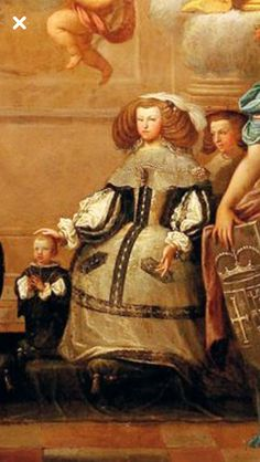 Mariana de Austria con Felipe Próspero . 1659-61 aprox Spanish Fashion, Spanish Style, Spanish Netherlands, Spanish Royalty, European Dress, Holy Roman Empire, Antique Paint, Baroque Fashion, Marie Antoinette