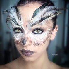Image result for owl makeup                                                                                                                                                                                 More