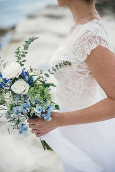 Just Picked Blue Bridal Bouquet