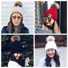 84774cfeaf0 Ivory Fur Pom Sweater Hat
