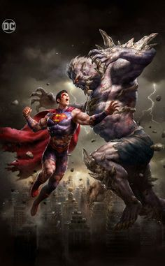 Superman v Doomsday Poster Marvel, Posters Batman, Arte Dc Comics, Dc Comics Superheroes, Marvel Vs, Captain Marvel, Captain America, Batman E Superman, Animals