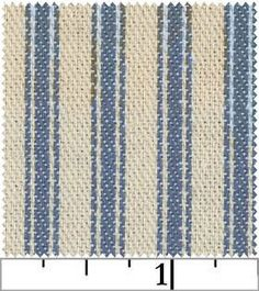 Striped Ticking by James Thompson & Co, Inc - Denim Blue
