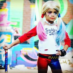 Harley Quinn kids Halloween costume. Cosplay. Suicide squad www.krabkakes.etsy.com