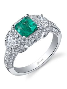 7 Emerald Engagement Rings - The Knot Blog