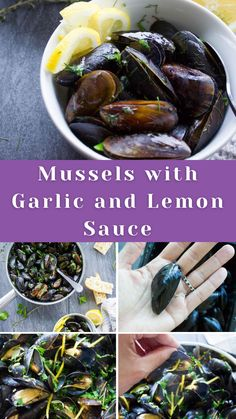 Love mussels? My favorite way to make a mussel recipe is always in a simple garlic and lemon sauce. So today we're chatting about How to Cook Mussels with Garlic and Lemon Sauce 🙂 Plus everything else you need to know about mussels! #mussels #garlic #lemonsauce #seafood #twopurplefigs | twopurplefigs.com @twopurplefigs Best Seafood Recipes, Healthiest Seafood, Delicious Dinner Recipes, Salmon Recipes, Veggie Recipes, Fish Recipes, Gourmet Recipes, Yummy Recipes, Seafood Stew