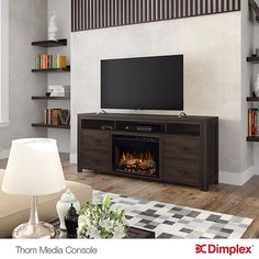Dimplex's Thorn Media Console, a All-In-One Entertainment Solution. Visit our website to find the perfect fireplace for your home at: http://www.dimplex.com/en/electric_fireplaces/media_consoles