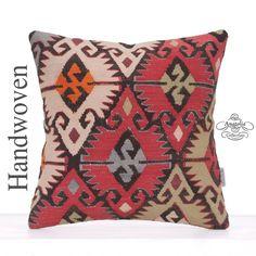 Oriental Designer Kilim Rug Pillow Decorative Eclectic Sofa Cushion