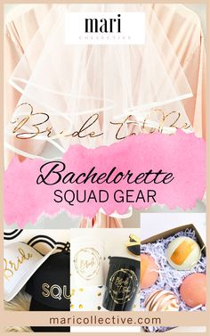 It is time for the last big girl's trip and you've got to be prepared. Glam up your bride tribe and browse the ultimate in bachelorette squad gear. Bachelorette Outfits, Weddingideas, Squad, Trends, Make It Yourself, Bride, Party, Gifts, Wedding Bride