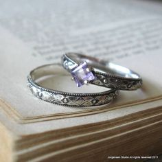 Square Princess Cut Amethyst Gemstone Engagement Promise Stacking Ring Size ready to ship by jorgensenstudio on Etsy Princess Cut Rings, Princess Cut Engagement Rings, Deco Engagement Ring, Vintage Engagement Rings, Unique Promise Rings, Alternative Engagement Rings, Bridesmaid Jewelry Sets, Amethyst Gemstone, Belle Photo
