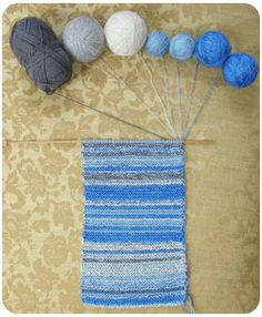 Leafcutter Designs - Conceptual Knitting - Sky Scarf documents the weather outside your window.