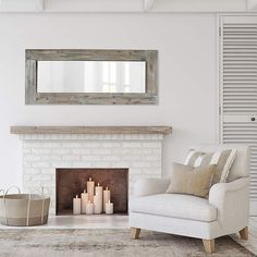 Best farmhouse wall decorations and rustic wall decor you will love. We absolutely love country themed wall decorations including farmhouse wall art, canvas art, mirrors, and more. Farmhouse Mirrors, Rustic Mirrors, Wood Framed Mirror, Modern Farmhouse Decor, Rustic Walls, Wall Mirror, Body Mirror, Rustic Barn, Barn Wood
