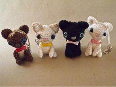 Chaveiros de Gatinhos em Crochê -